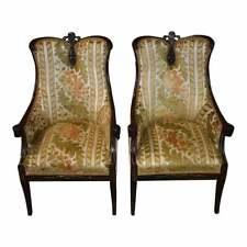 pair antique regency mahogany rope twist chairs