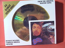 """DCC GZS-1091 PAUL McCARTNEY and WINGS """"RED ROSE""""(24 KT GOLD COMPACT DISC/SEALED)"""