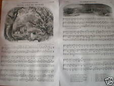 Farewell the Woodlands English melody music sheet 1856