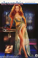 LOT OF 2 POSTERS:ALEXANDRIA KARLSEN - PLAYBOY - SEXY FEMALE MODEL  #3627 LP47 T