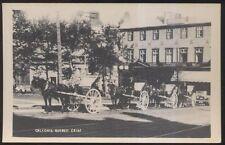 Postcard QUEBEC CANADA  D. Morgan Hotel/Inn? & Caleches Carts view 1920's?