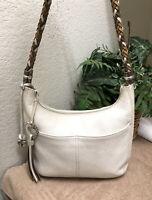 NWT Brighton Your Bag POLAR BEAR Leather White Winter Key Handbag Fob MSRP $50