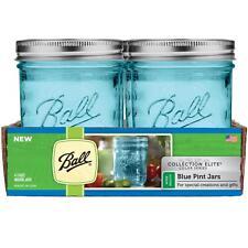 Box New Ball Mason Blue Wide Pint Jars Lids Canning Wedding Preserving BPA FREE