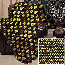 147x147cm Doux Couverture polaire Housse SMILEYS Design lit canapé chaise