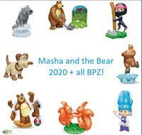 Komplettsatz Masha und der Bär 7 aus Russland 2020 +ALLE Bpz Masha and the bear
