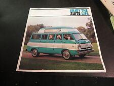 1968 Travco Vintage Brochure Dodge Executive Suite Van