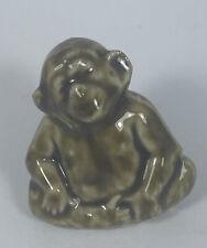 New ListingWade of England Chimp Chimpanzee Ape Red Rose Tea Miniature Figurines Whimsies