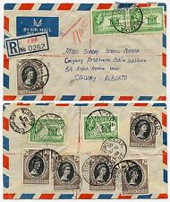 GOLD COAST 1953 CORONATION MULTI FRANKING ODA to CANADA REGISTERED AIRMAIL