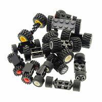 15 Lego System Lego Achsen 30 Rädern Rad Räder Form und Farbe zufällig gemischt
