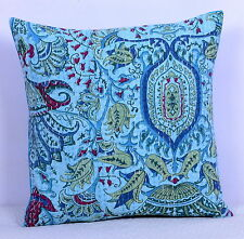 "16"" INDIAN CUSHION PILLOW COVERS KANTHA THROW Ethnic Decorative India Decor Art"