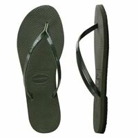 Havaianas Brazil You Metallic Olive Green Flip Flops Summer Shoes All Sizes