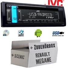 JVC Autoradio für Renault Megane & Scenic 2 Radio Einbauset CD MP3 USB Android