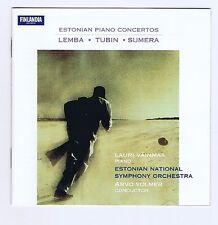 ESTONIAN PIANO CONCERTOS CD LEMBA/TUBIN/ SUMERA/ ARO VOLMER