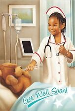 12 African American Female Get Well soon stickers for planners and scrapbooking