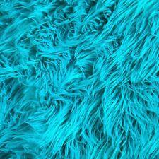 FabricLA Half Yard Shaggy Faux Fake Fur Fabric - Turquoise