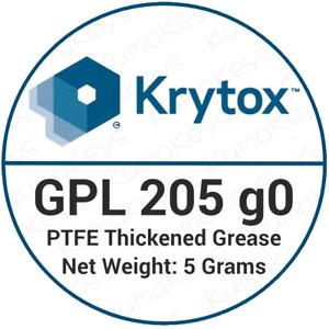 Krytox GPL 205 Grade 0 Linear Switch & Stabiliser lube 205g0 5 Grams + Brush