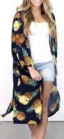 NWT Do Everything in Love Anthropologie NEW Pineapple Print Kimono Jacket One Sz