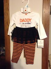 """Halloween. Carters """"Daddy is under my spell"""" 2 Piece set. 3mths & 6mths NWT."""