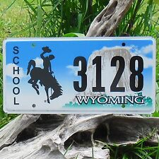 Véritable Plaque D' Immatriculation  du WYOMING (3128) - USA - License Plate