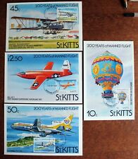 St Kitts – Manned Flight Set on PHQs – FDCs (Se4)