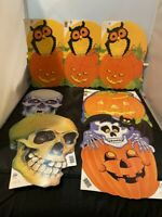 VINTAGE EUREKA LOT OF 7 HALLOWEEN DIE CUT CARDBOARD DECORATION LOT #2
