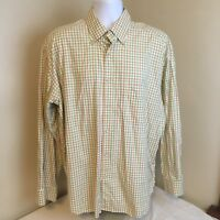 Jeff Rose Men Multicolor Plaid Shirt Long Sleeve XXL 2XL Made in Italy Free Ship