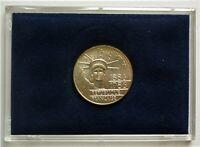 1986 FRANCE - 100 FRANCS - 100 YRS OF STATURE OF LIBERTY - MINT BU SILVER w/ COA