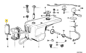 BMW (E23/E24/M6) Windshield Washer Pump WORLD SOURCEONE 61661370033