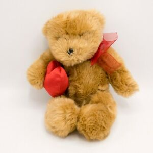 Gund Valentines Day Teddy Bear With Red Heart and Bow Stuffed Plush Animal Xmas