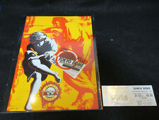 Guns N' Roses Use Your Illusion 1992 Tour Book w Japanese Ticket Stub, Pass Axl