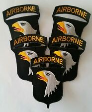 Lot de 5 Patches US 101st Airborne para D-Day Normandie cut Edge WW2 - REPRO