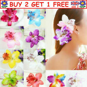 Orchid Flower Large Hair Clamp Claw Clip Barrette Wedding Party Travel Beach L8