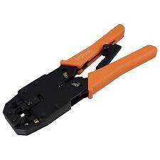 Pinza Crimpare Professionale a Cricchetto Cavi Rete Telefono RJ45 RJ11 RJ12 plug