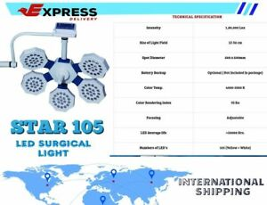 OT LED SURGICAL LIGHTS Surgical operation theater Sterilizable handle Star 105