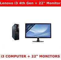 """LENOVO i3 4th GEN ✔240GB SSD  ✔ 8GB RAM 22""""WIDESCREEN WIFI DELL HP MICE USB 3.0"""