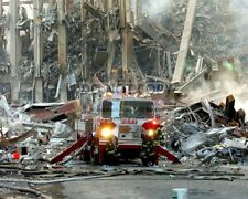 FDNY FIRE ENGINE @ WORLD TRADE CENTER AFTER SEPTEMBER 11 - 8X10 PHOTO (AB-837)