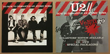 U2 Rare 2004 Set 2 Double Side Promo Poster Flat for Dismantle Cd Mint 12x12 Usa