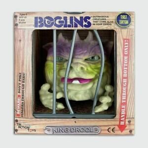 Tri Action Toys Boglins King Drool Hand Puppet in 80s Retro Style Cage Style Box