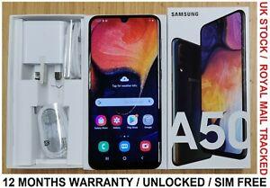 Samsung Galaxy A50 - Black Unlocked Dual SIM SIM FREE - Grade A