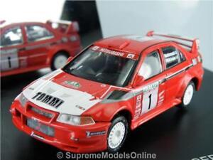 MITSUBISHI LANCER EVO 6 '99 CAR MODEL 1/43RD MAKINEN RED/WHITE EXAMPLE T3412Z(=)