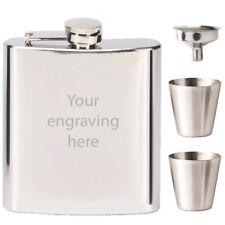 personnalisé finition miroir FIOLE DE HANCHE & Tots gravure gratuite