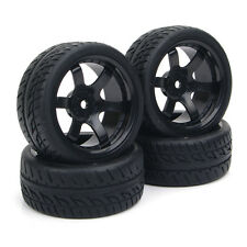 4 X 1:10 RC Flat Drift On-Road Tires Wheel Rim For HPI Racing Car PP0072+PP0150