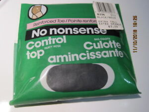 Pantyhose NO NONSENSE Control Top Reinforced Toe Extra Tall Black Sealed Canada