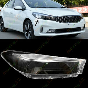 Right / Passengers Side Clear Headlight Cover +Glue For Kia K3 / Forte 2017-2018