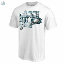 New Officially Licensed Philadelphia Eagles White SB LII T-Shirt Size Mens 2XL