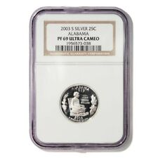 USA Alabama State Quarter 2003 S Silver Proof NGC PF 69 Ultra Cameo