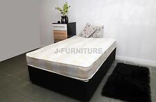 4ft Small Double Black Base Divan Bed Soft to Medium Mattress 20cm Sliding Doors