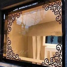 4Pcs Wall Window Bath Room Mirror Glass Art Sticker Removable Paper Decal Decor