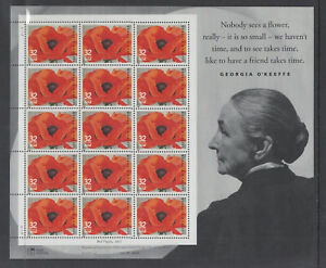 US #3069 Georgia O'Keefe 32c Complete Sheet of 15 Mint Never Hinged