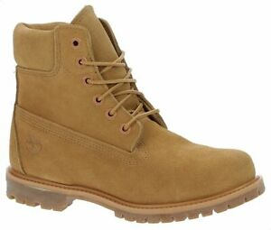 """Womens Ladies Timberland 6"""" 6 Inch Premium Boots Shoes Lace Up Leather Suede UK"""